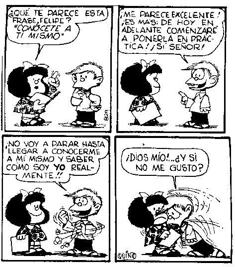 Mafalda - Autoconocimiento